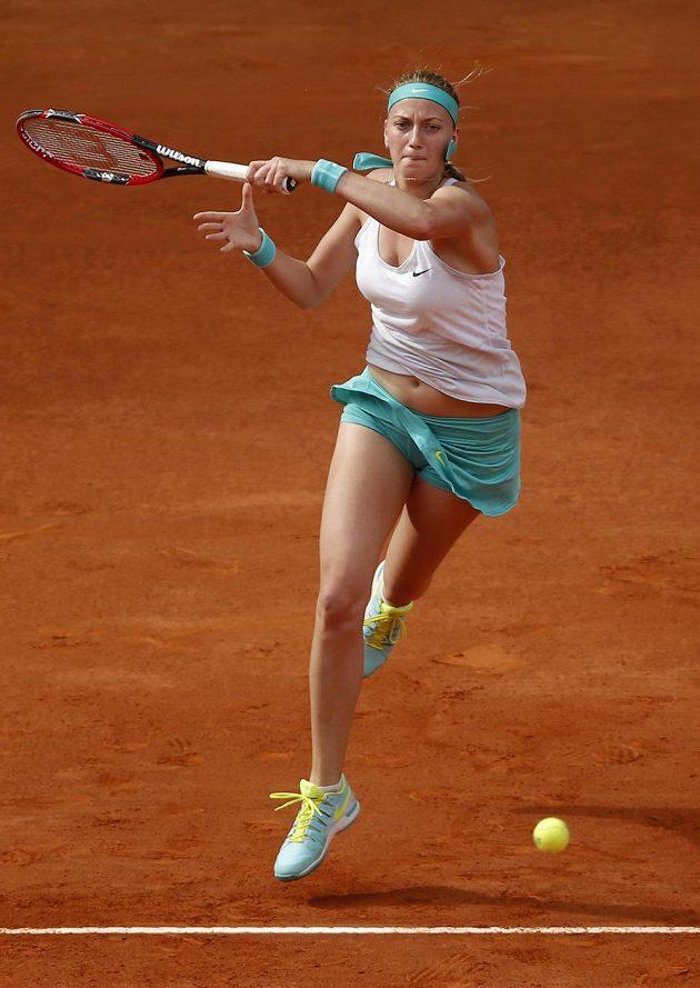 Petra Kvitová během finále turnaje WTA v Madridu.