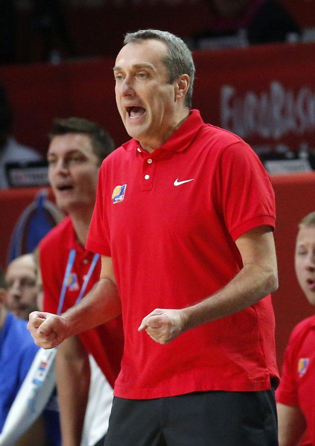 Trenér českých basketbalistů Ronen Ginzburg.