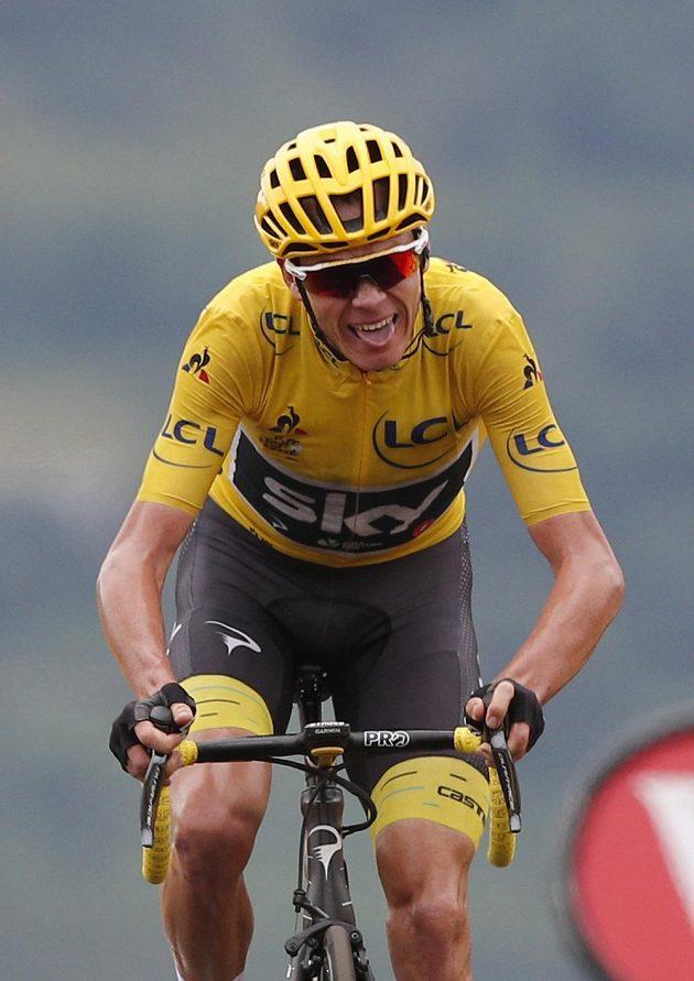 Britský favorit Chris Froome v závěru 12. etapy trpěl.