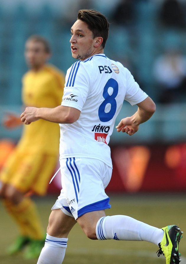 Adam Jánoš z Vysočiny Jihlava během utkání s Duklou.