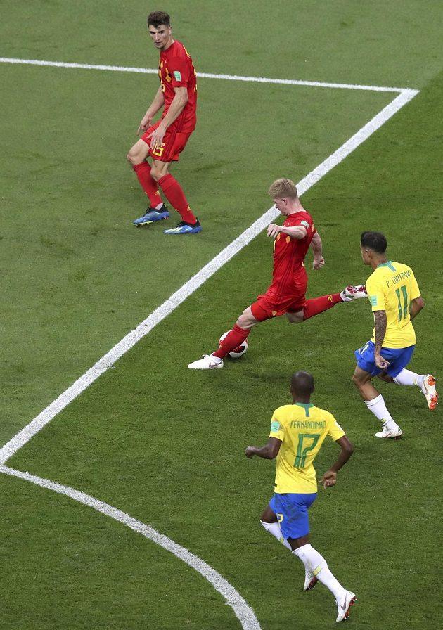 Kevin de Bruyne pálí. Belgie jeho zásluhou vede nad Brazílií už 2:0