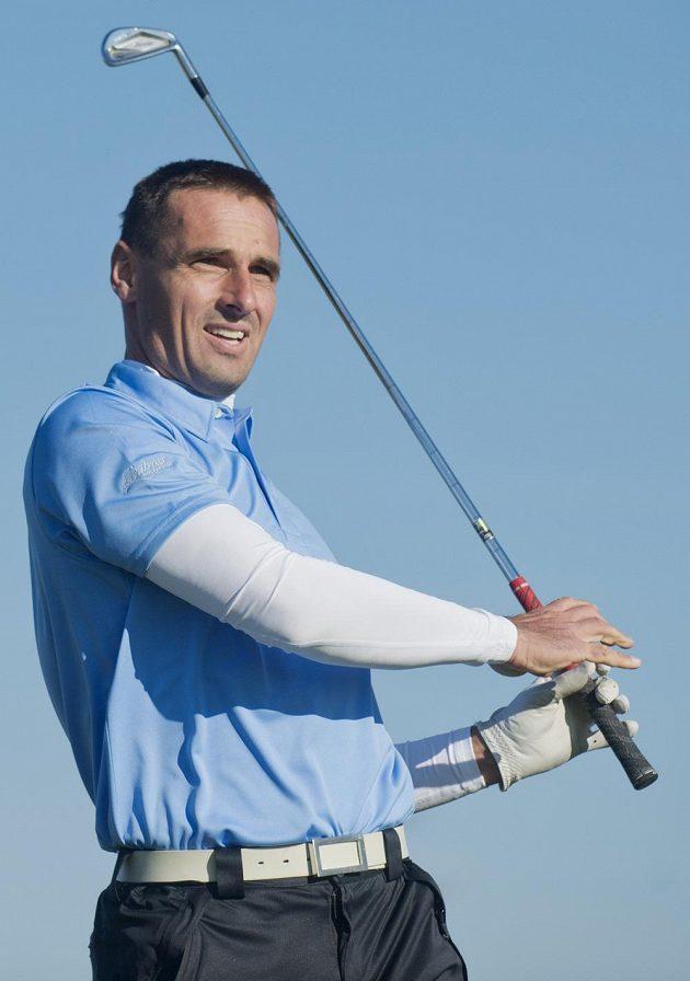 Bývalý desetibojař a současný golfista Roman Šebrle.