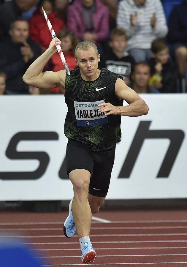 Jakub Vadlejch, vítězný oštěpař.