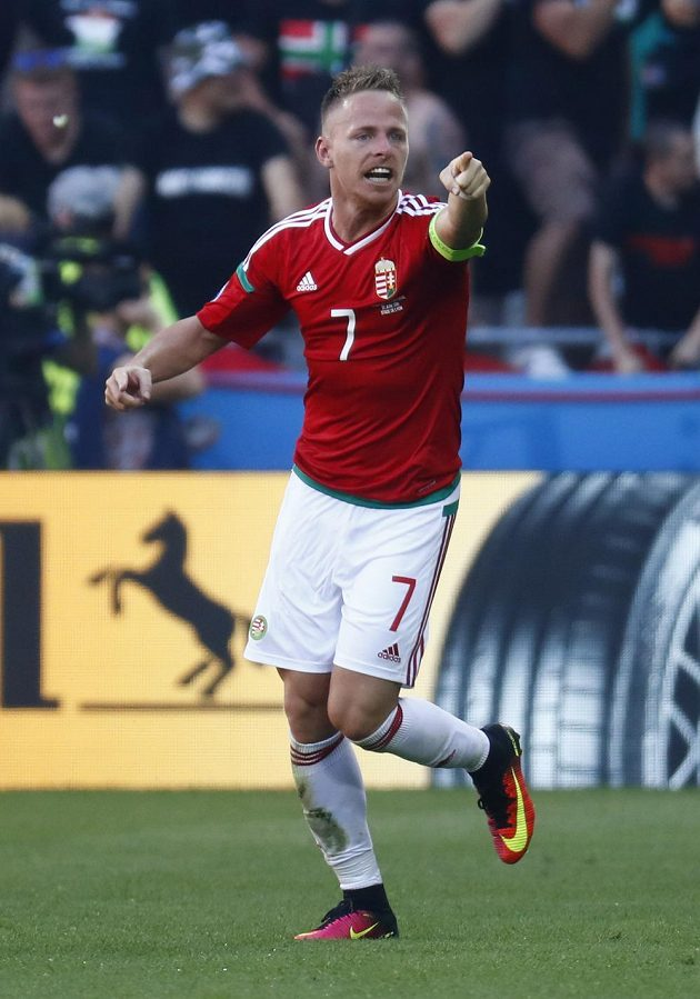 Kapitán maďarských fotbalistů Balázs Dzsudzsák vstřelil proti Portugalsku dva góly.