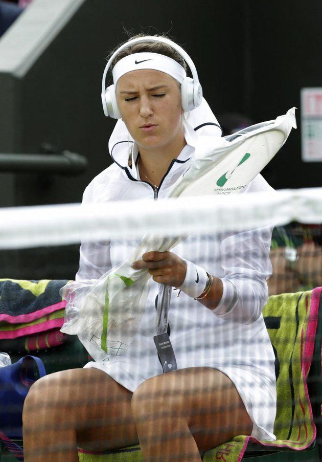 Běloruska Victoria Azarenková na letošním Wimbledonu.