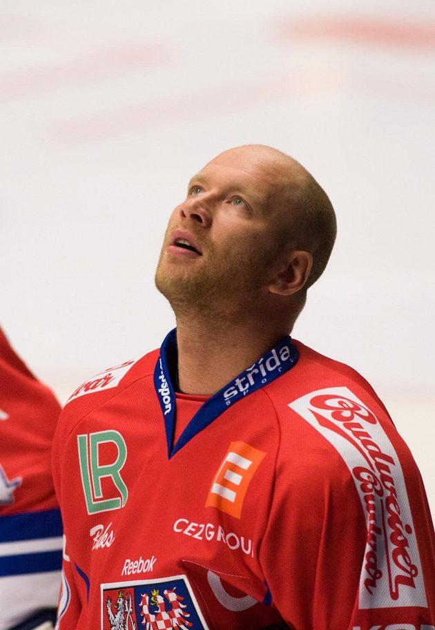 Sté reprezentační utkání odehrál ve středu proti Lotyšsku Jiří Novotný, kamarád Jana Marka a jindřichohradecký odchovanec.