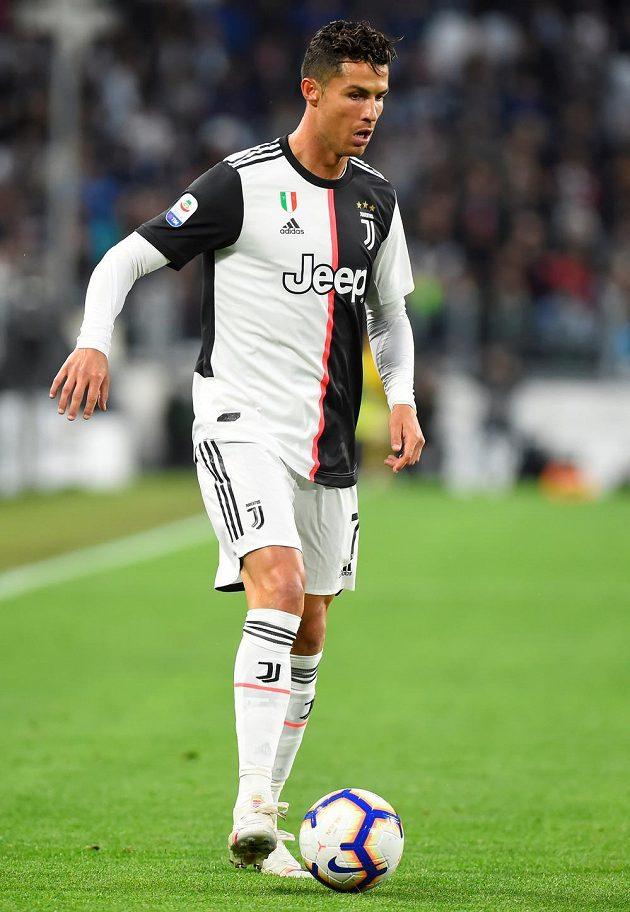 Cristiano Ronaldo v zápase proti Atalantě