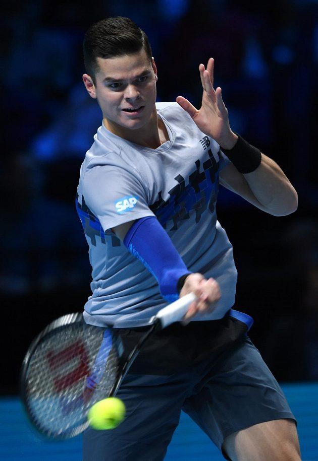 Kanadský tenista Milos Raonic (na snímku) prohrál na Turnaji mnistrů i druhý zápas, tentokrát nestačil na Brita Andyho Murrayho.