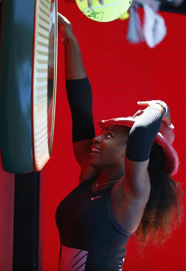 Americká tenistka Serena Williamsová.