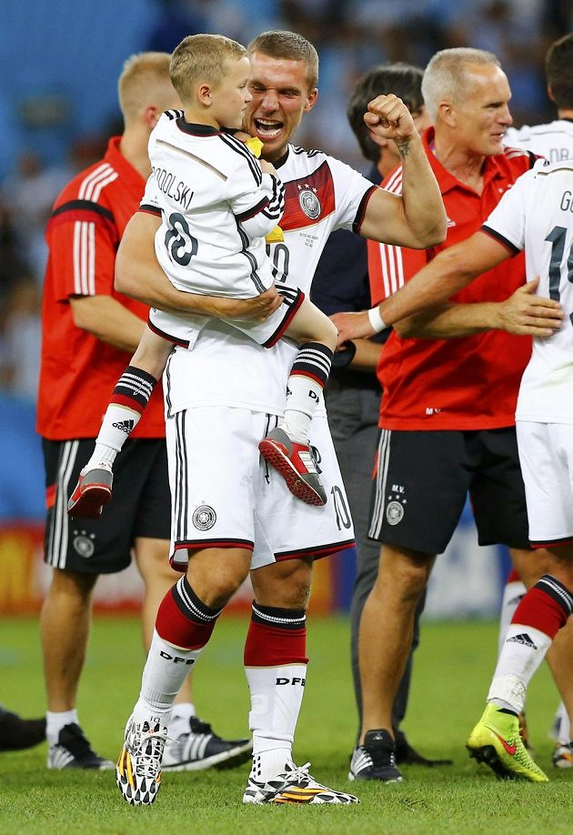 Lukas Podolski se synem Louisem Gabrielem.