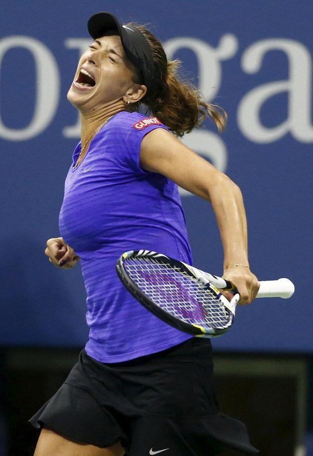 Česká tenistka Petra Cetkovská si na US Open vyšlápla na světovou pětku a čtvrtou nasazenou Dánku Wozniackou.