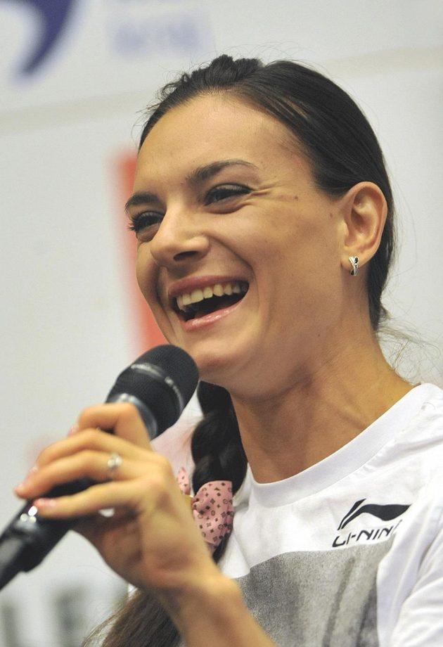 Ruská tyčkařka Jelena Isinbajevová.