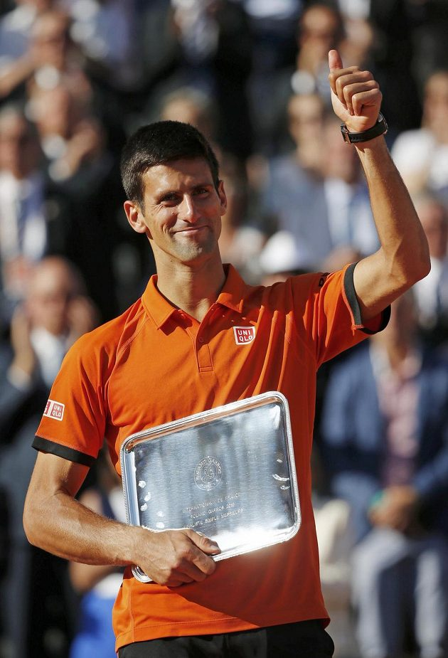 Novak Djokovič, poražený finalista letošního Roland Garros.