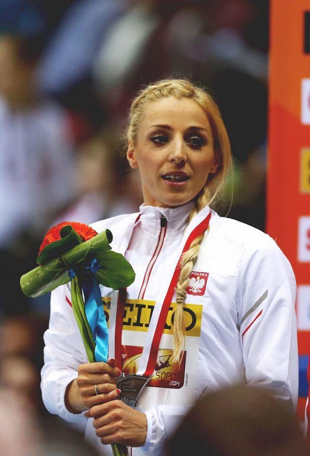 Polka Angelika Cichocká, stříbrná na 800 m.