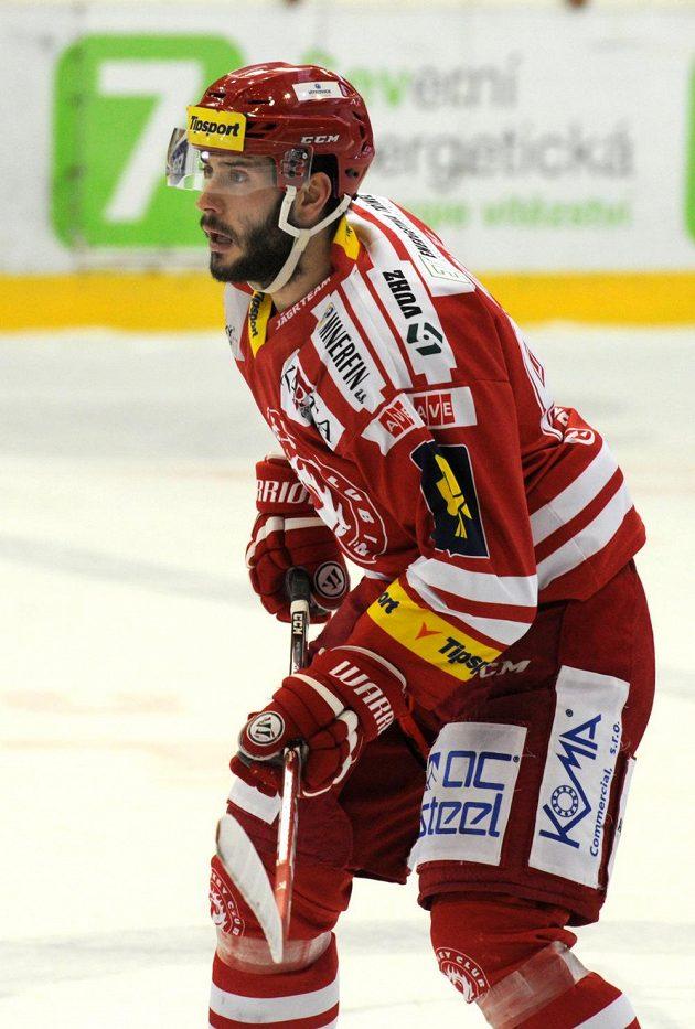 Střelec úvodní branky šestého finálového zápasu Erik Hrňa.