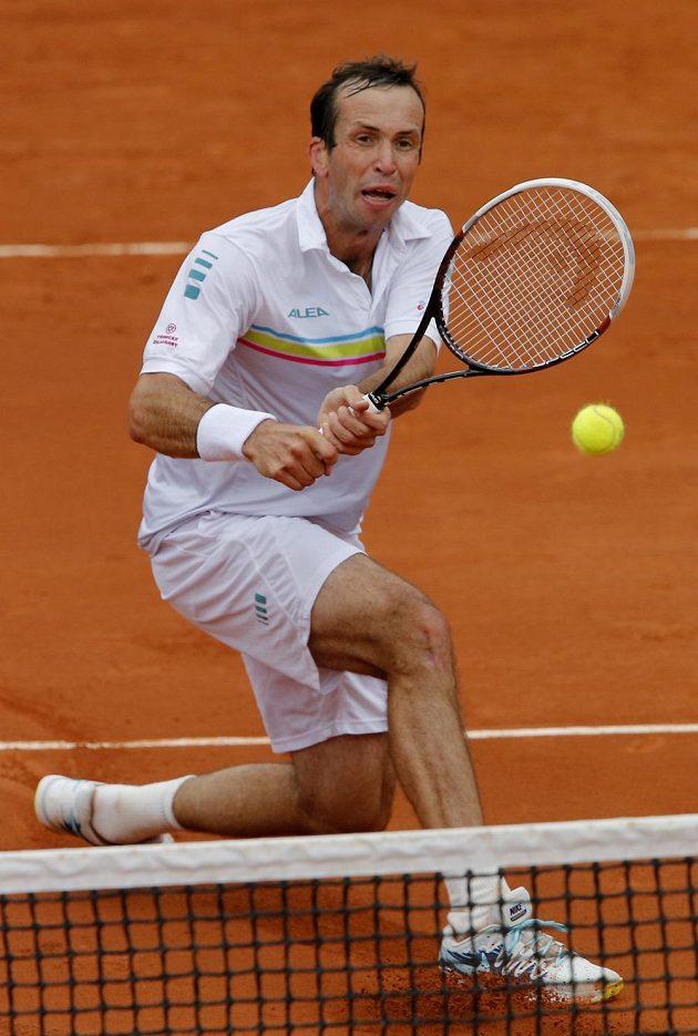 Tenista Radek Štěpánek na Roland Garros v utkání proti Michailovi Južnému z Ruska.