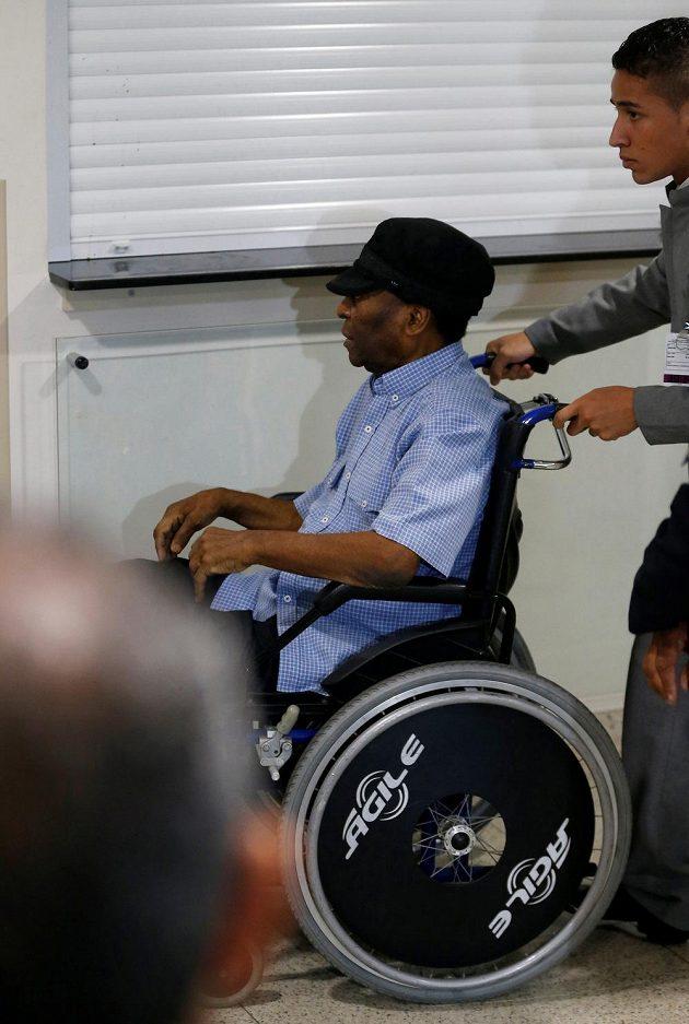 Pelé na snímku z roku 2014, kdy byl v nemocnici v Sao Paulu.