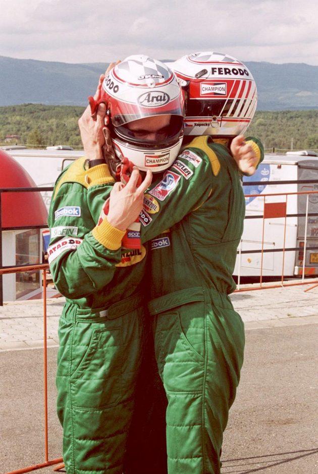Josef Kopecký se synem Janem v dobách společného působení v Octavia Cupu.