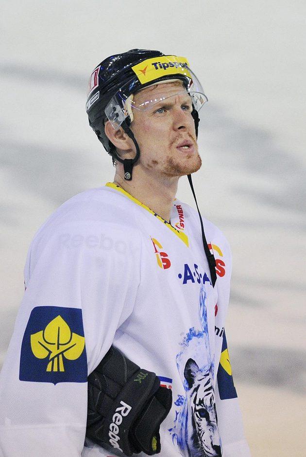 Zklamaný liberecký útočník Tomáš Urban, který vstřelil jediný gól Bílých Tygrů v duelu s Plzní.