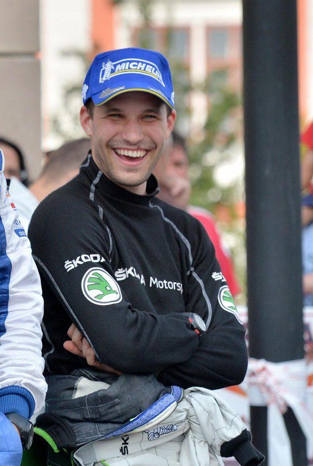 Pavel Dresler při Barum rallye 2013.