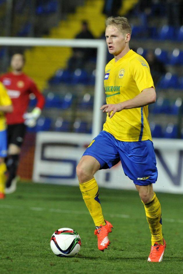 Záložník Štěpán Koreš vstřelil první gól Zlína v duelu s Libercem.