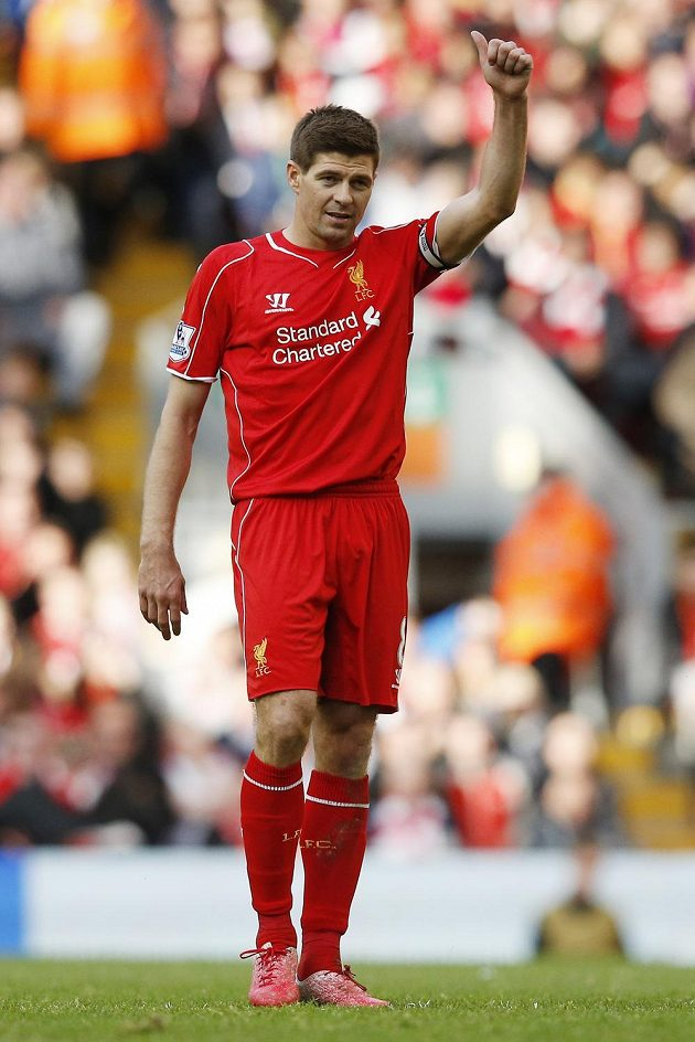 Kapitán Liverpoolu Steven Gerrard dal Anfieldu sbohem...