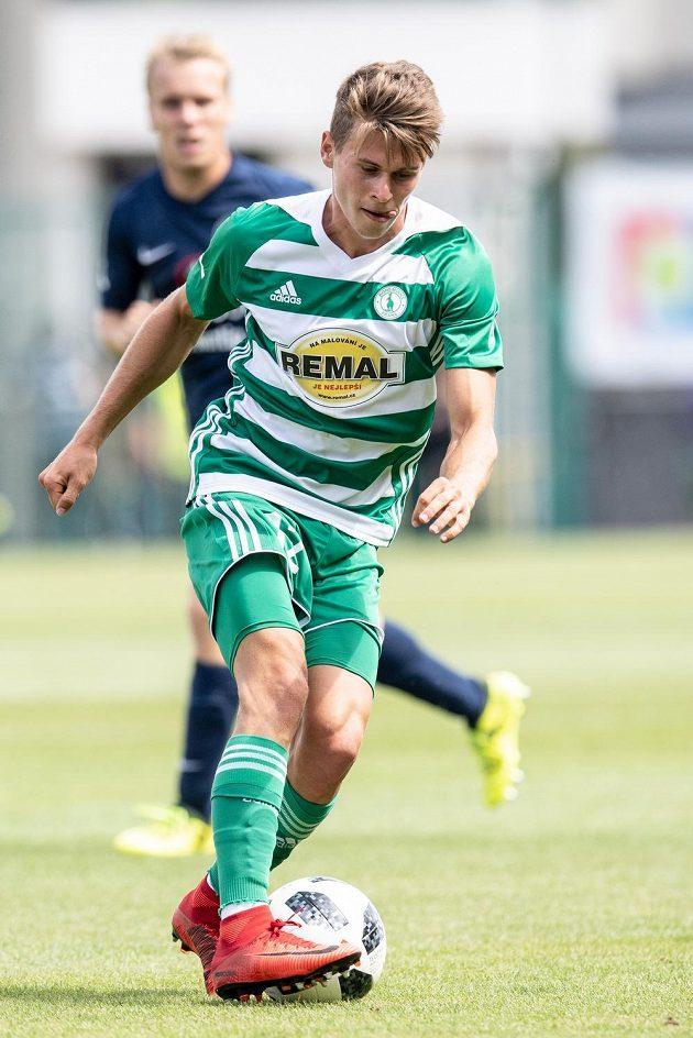 Filip Hašek z Bohemians během utkání 1. kola Fortuna ligy se Slováckem.