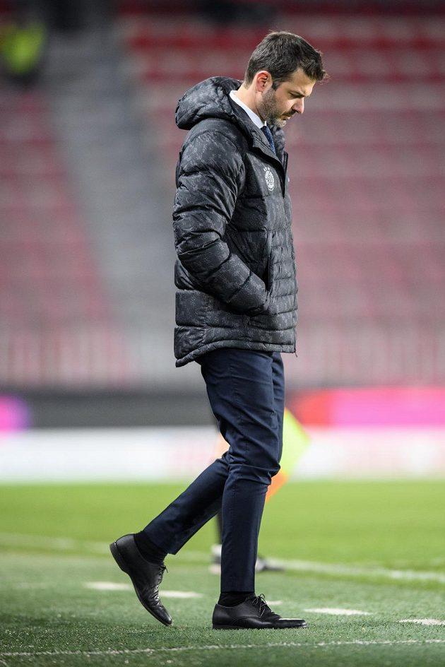 Trenér Sparty Praha Andrea Stramaccioni během utkání s Libercem.