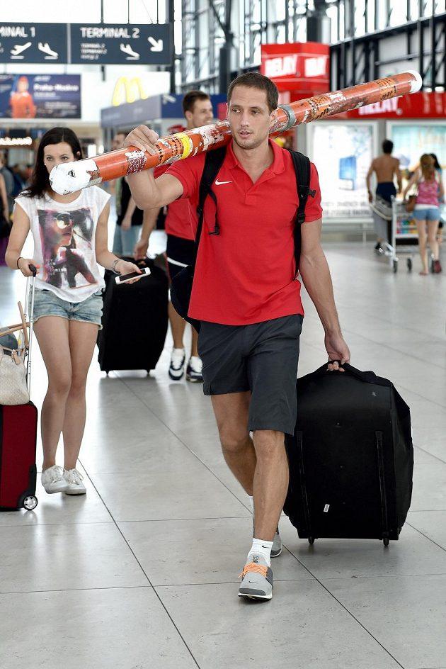 Oštěpař Vítězslav Veselý se připravuje na odlet na atletické MS v čínském Pekingu.