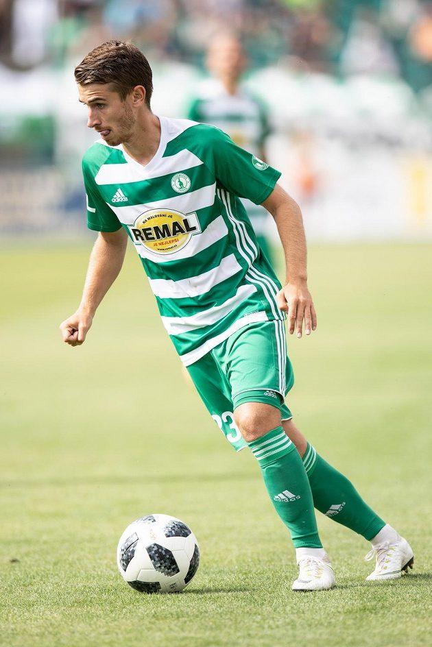 Dominik Mašek z Bohemians během utkání 1. kola Fortuna ligy se Slováckem.