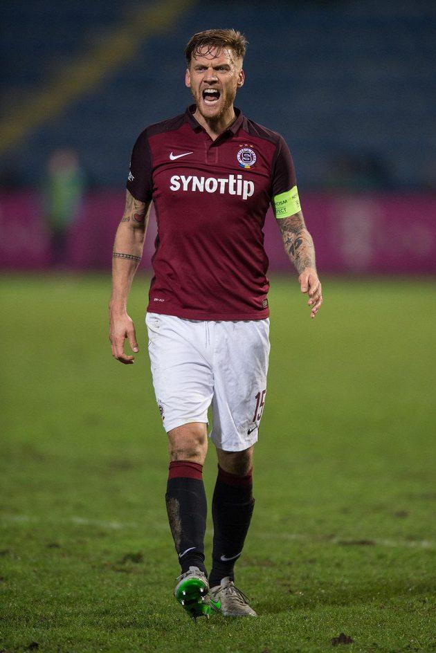 Obránce pražské Sparty Radoslav Kováč během úvodního čtvrtfinále MOL Cupu v Liberci.