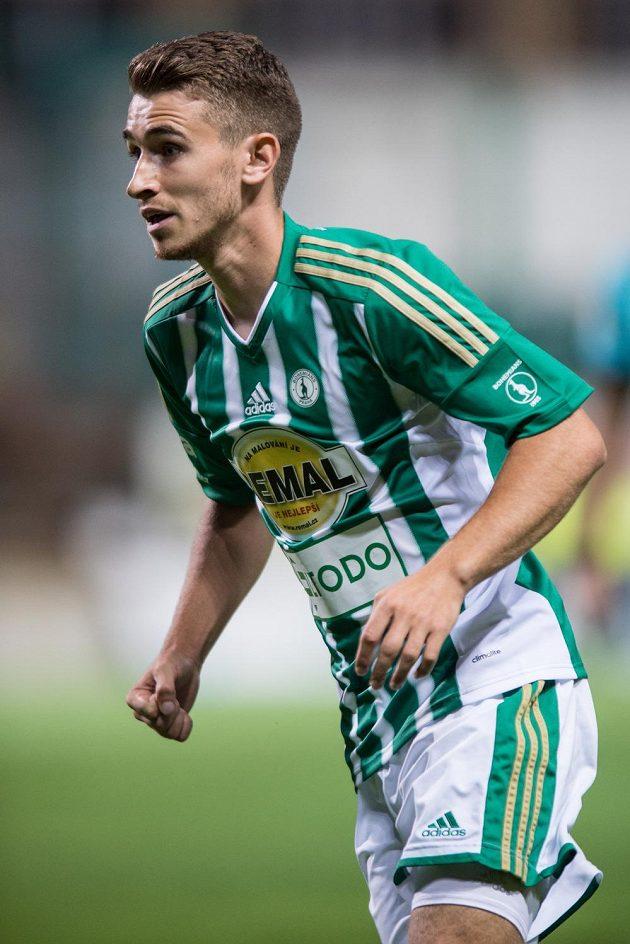 Nová posila Bohemians Dominik Mašek během utkání s Jabloncem.