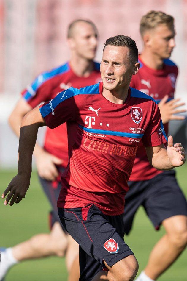 Jan Bořil na svém prvním tréninku s reprezentací.
