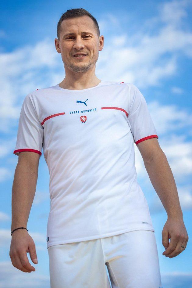 Jan Bořil v novém dresu fotbalové reprezentace.
