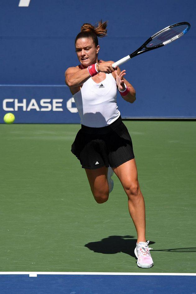 Řecká tenistka Maria Sakkariová favoritku US Open notně potrápila.