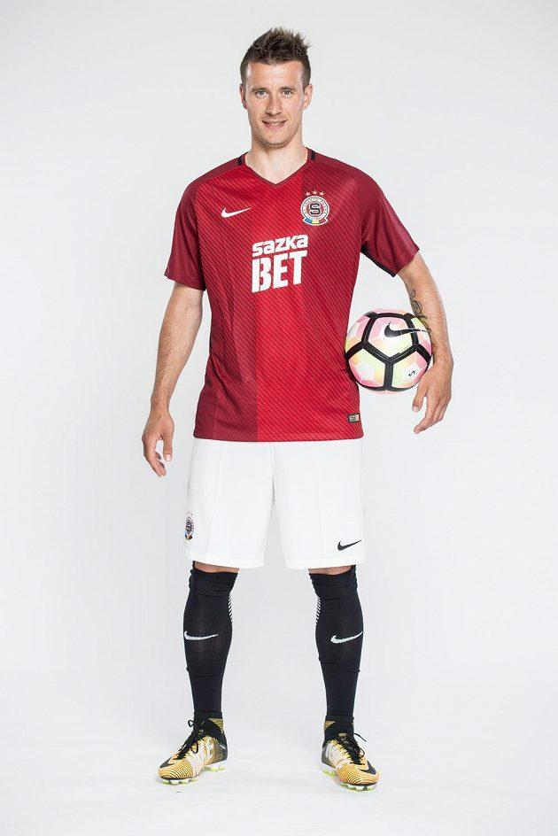 Lukáš Mareček v novém dresu Sparty Praha pro sezónu 2017/2018.