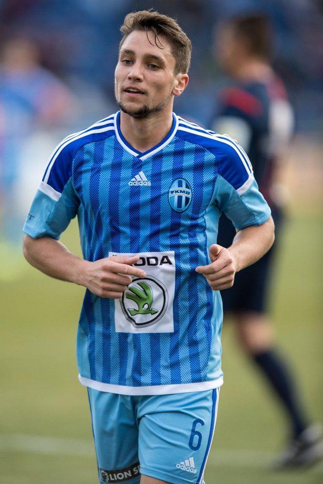 Zimní posila Mladé Boleslavi záložník Adam Jánoš během utkání proti Baníku.
