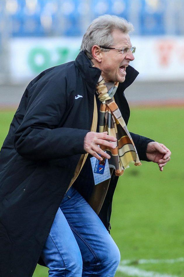 Trenér Baníku Vlastimil Petržela.