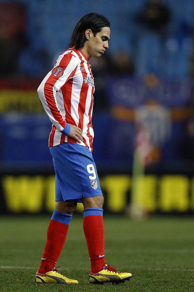 Obávaný kanonýr Falcao z Atlétika Madrid se v utkání s Rubinem Kazaň neprosadil.