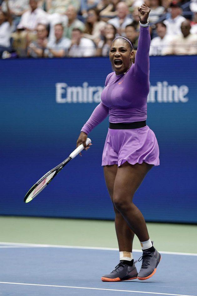 Za vítězstvím. Serena Williamsová během finále US Open