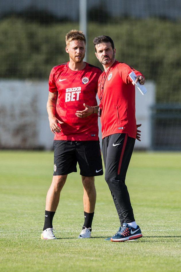 Nový trenér Sparty Andrea Stramaccioni (vpravo) a asistent Radoslav Kováč.