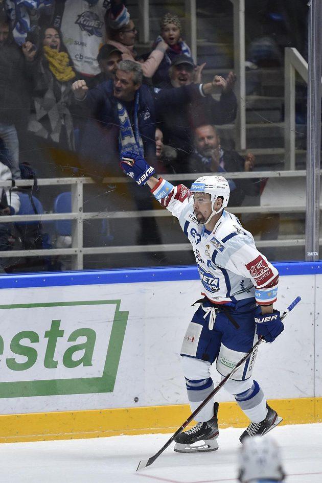Ondřej Němec z Brna se raduje z gólu proti Plzni.