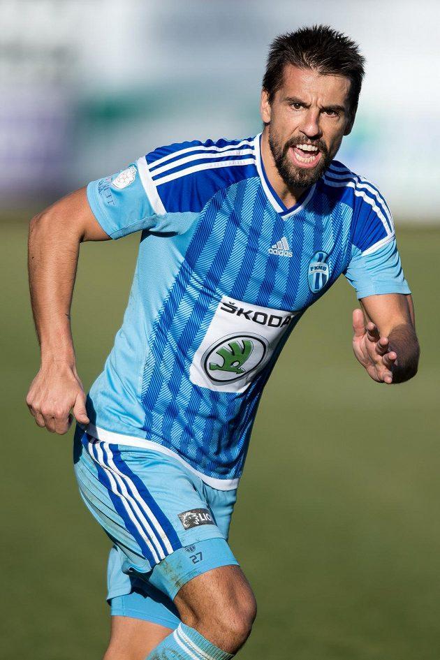 Útočník Mladé Boleslavi Milan Baroš během utkání proti Baníku.