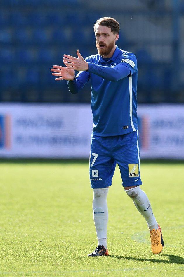 Autor rozhodujícího gólu Milan Kerbr z Liberce.