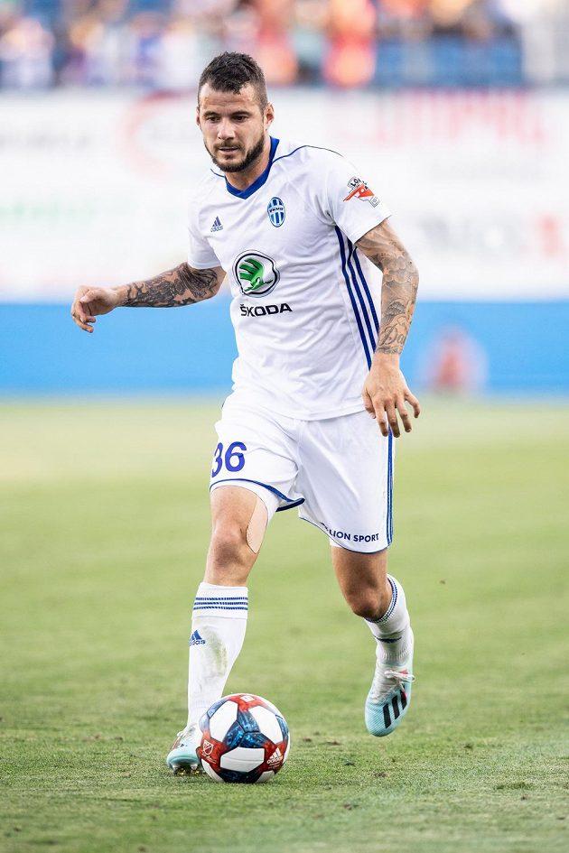 Daniel Pudil z Mladé Boleslavi během utkání 2. předkola Evropské ligy proti Ordabasy Šymkent.