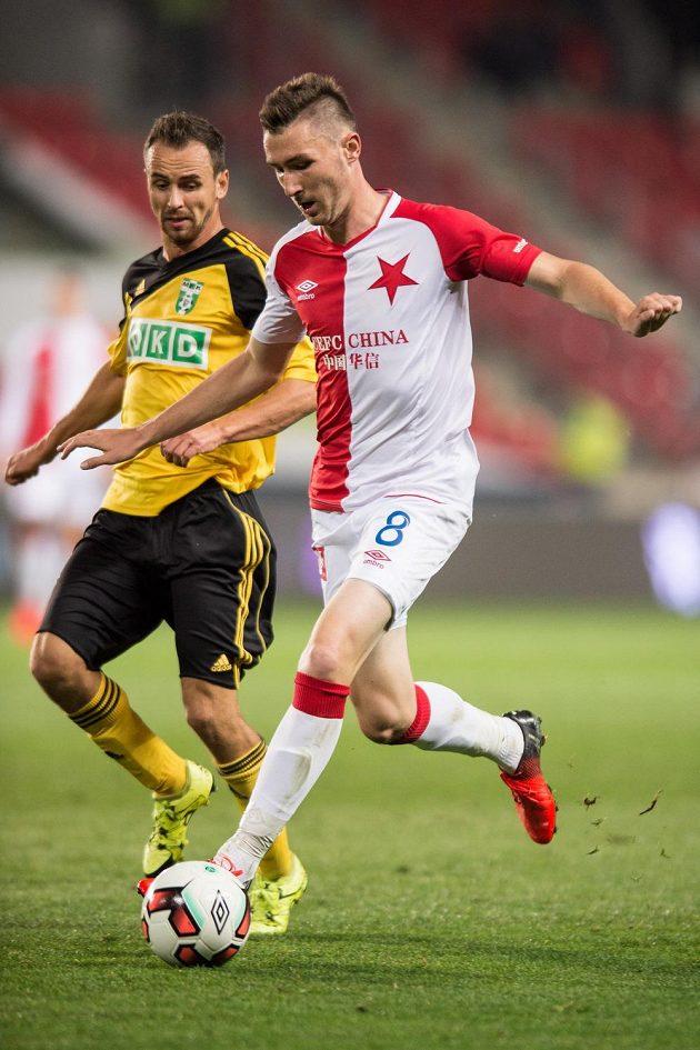 Jaromír Zmrhal ze Slavie v utkání proti Karviné.