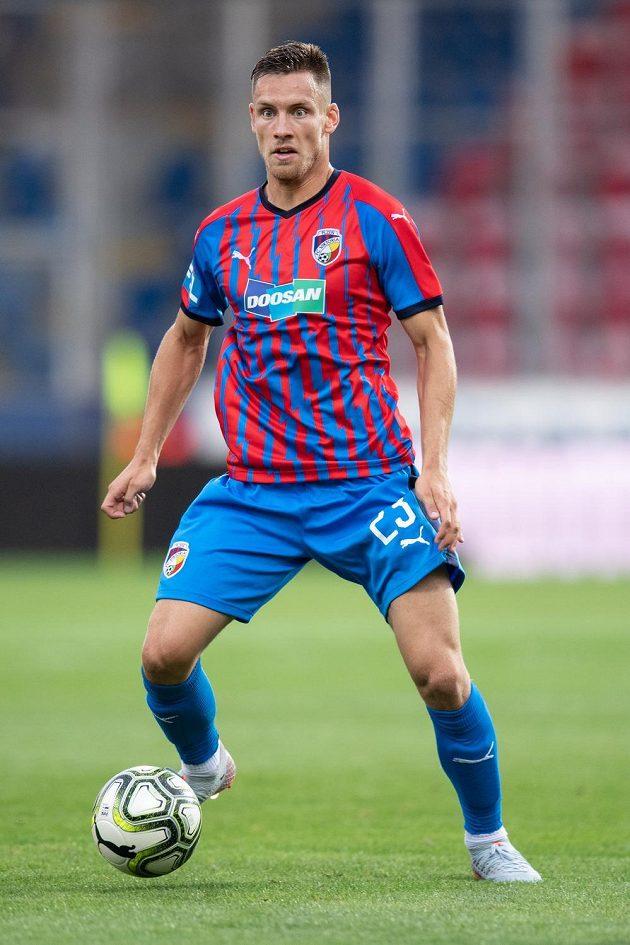 Lukáš Kalvach z Viktorie Plzeň během utkání proti Olomouci.
