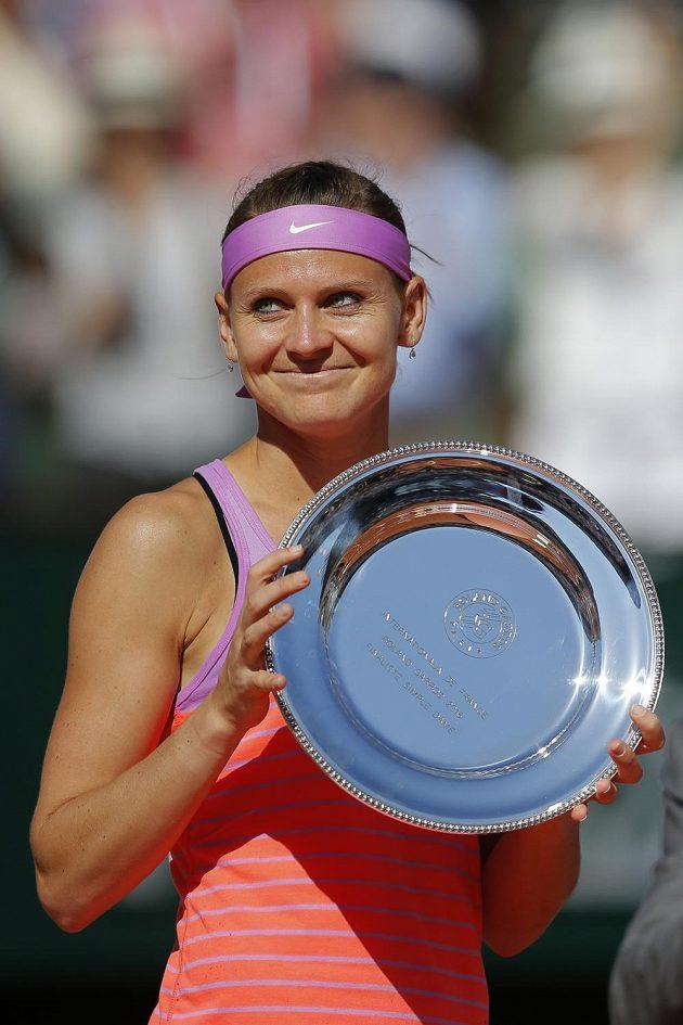 Poražená finalistka French Open Lucie Šafářová.
