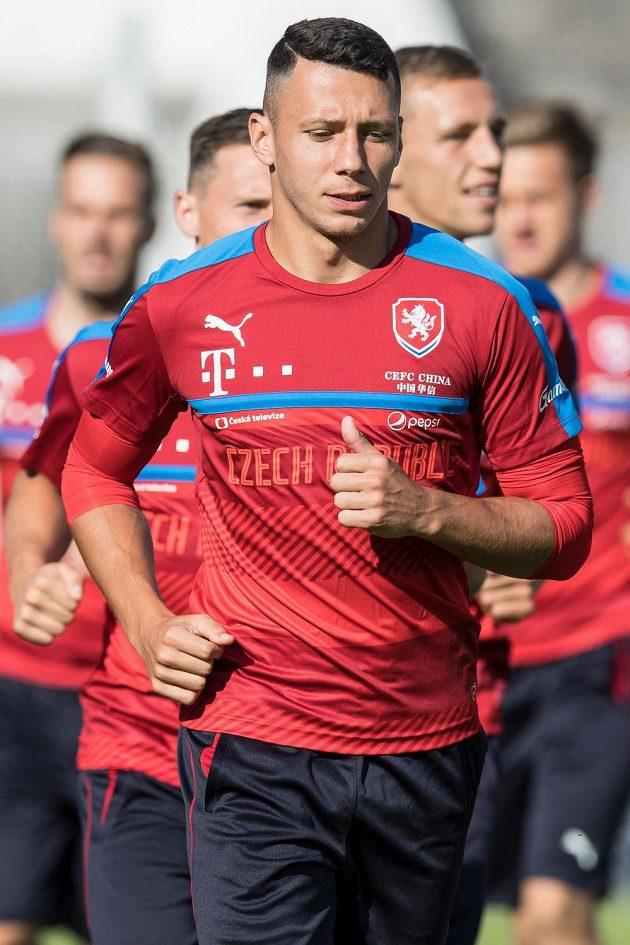 Marek Suchý na tréninku.