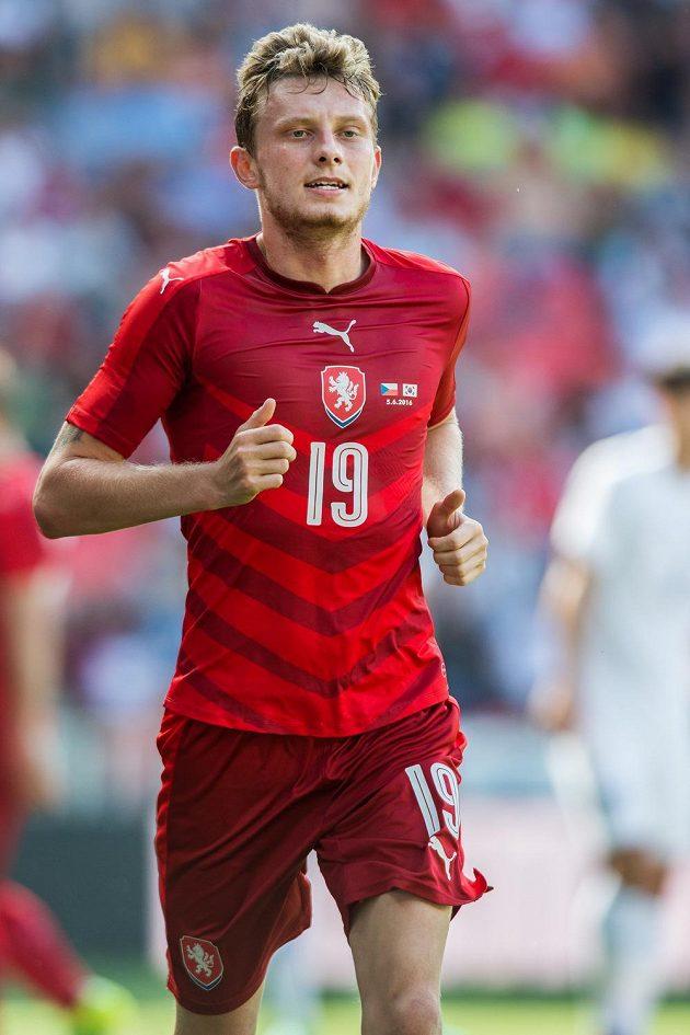 Čský záložník Ladislav Krejčí během přípravného utkání s Jižní Koreou.